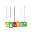 august word vector image vector image