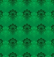 Background - Emerald Flowers vector image