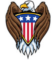 bald eagle holding shield vector image