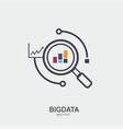 big data modern flat line icon design creative vector image vector image