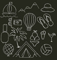 black and white on the theme of summer holidays vector image vector image