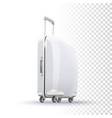 blank suitcase layout vector image vector image