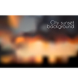 Blurred sunset background Evening cityscape vector image vector image