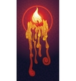 Burning decorative candle vector image