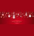 christmas banner with shining snowflakes bows vector image vector image