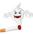 Cigarette with monster in smoke vector image