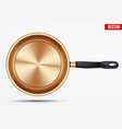 classic brass fry pan vector image vector image