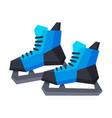 classic ice hockey skates winter sport equipment vector image