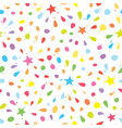 colorful seamless pattern with confetti stars vector image vector image