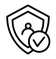 digital shield protect line icon shield and user vector image vector image