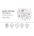 E-commerce web design concept Line icons for vector image vector image