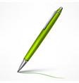 expensive green tilt pen vector image vector image