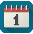 flat icon toy calendar vector image vector image