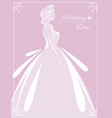 flyer to the bride show silhouette vector image vector image