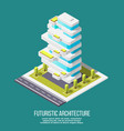 future architecture isometric background vector image vector image