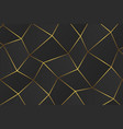 golden geometric abstract pattern vector image vector image