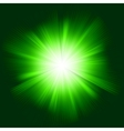 Green color design with a burst EPS 8 vector image vector image