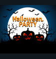 halloween party background blue vector image