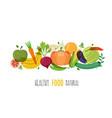 healthy natural food vector image