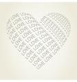 Heart love vector image vector image