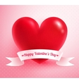 Heart with paper banner vector image vector image