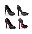 heeled shoes realistic in color on white vector image