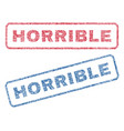 horrible textile stamps vector image vector image