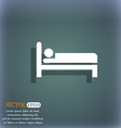 Hotel icon symbol on the blue-green abstract vector image vector image