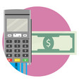 icon of electronic money transfer application vector image vector image