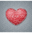 Lettering Heart Valentines Card vector image vector image