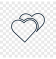love concept linear icon isolated on transparent vector image