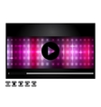 media player design vector image