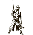 Medieval Knight with Sword and Shie vector image vector image