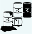 Metal containers for storage of toxic substances vector image vector image