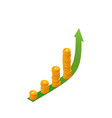 money growth concept isometric stacks vector image
