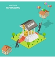 Mortgage refinancing isometric vector image