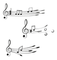 Music Treble clef and notes for your design on a vector image vector image
