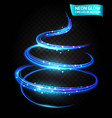 neon glow line in motion blurred edges vector image vector image