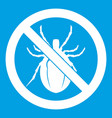 no bug sign icon white vector image vector image