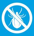 no bug sign icon white vector image vector image