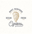ocean fresh oysters abstract sign symbol vector image