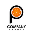 p letter logo design logo set p letter logo with vector image