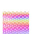 Pastel colored triangular background with copy vector image vector image