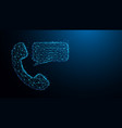 phone with chat messages icon vector image