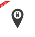 privacy lock icon icon map pin vector image vector image