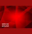 red color polygon abstract background technology vector image vector image