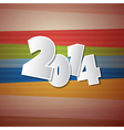 Retro Happy New Year 2014 Background vector image