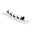 santa and deers vector image vector image