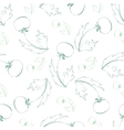 Seamless pattern of sketch dandelion vector image vector image