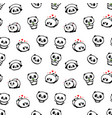 seamless pattern with cute panda asian bear vector image vector image